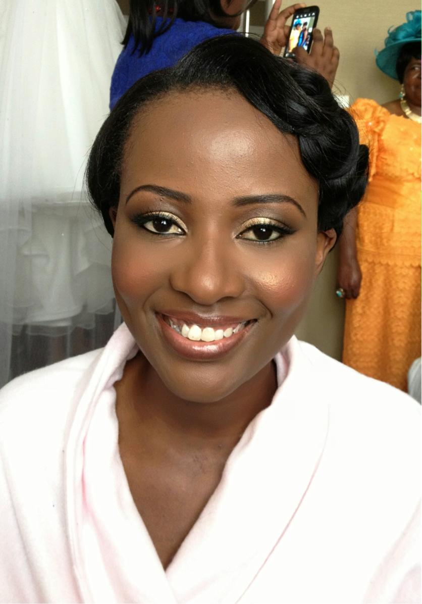 How To Apply Bridal Makeup For Black Skin : Jacarandas Wedding Makeup